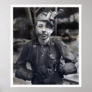 Lewis Wickes Hine - Portrait of Tipple Boy Print