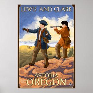 Lewis y Clark - Astoria, Oregon Posters