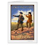 Lewis y Clark - Astoria, Oregon Tarjeta De Felicitación