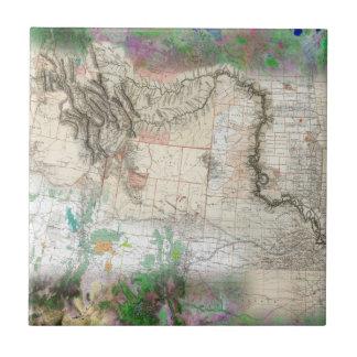 Lewis y Clark Azulejo Cuadrado Pequeño