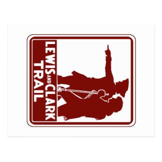 Lewis y Clark, muestra de la guía del tráfico, los Postales