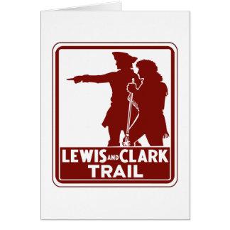 Lewis y Clark, muestra de la guía del tráfico, los Tarjeta De Felicitación