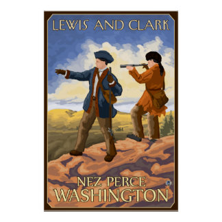 Lewis y Clark - Nez Perce, Washington Posters