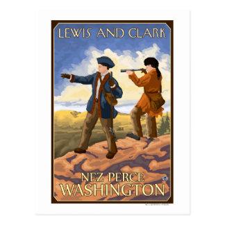 Lewis y Clark - Nez Perce, Washington Tarjetas Postales