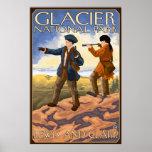Lewis y Clark - Parque Nacional Glacier, TA Póster