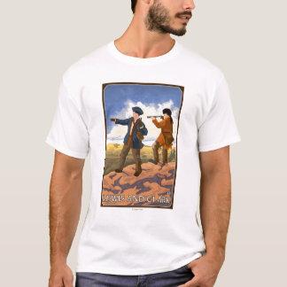Lewis y Clark que exploran el oeste Playera
