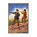 Lewis y Clark que exploran el oeste Postal