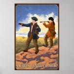 Lewis y Clark que exploran el oeste Posters