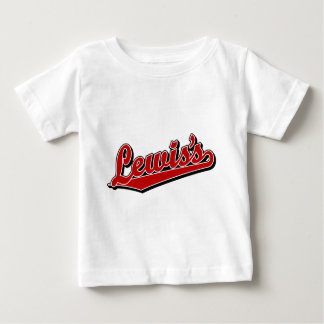 Lewis's in Red Baby T-Shirt