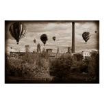 Lewiston Maine Hot Air Balloons Poster