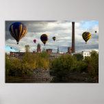 Lewiston Maine Hot Air Balloons Print