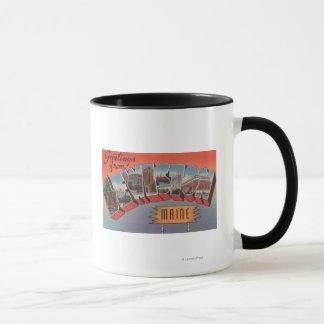 Lewiston, Maine - Large Letter Scenes Mug