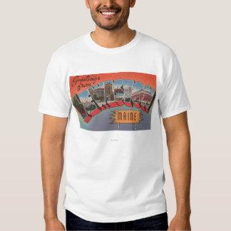Lewiston, Maine - Large Letter Scenes Shirt