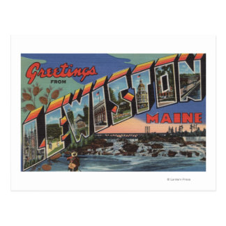 Lewiston, Maine (River Scene) Postcard