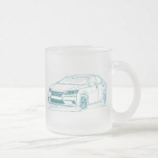 Lex ES350 2013 Frosted Glass Coffee Mug