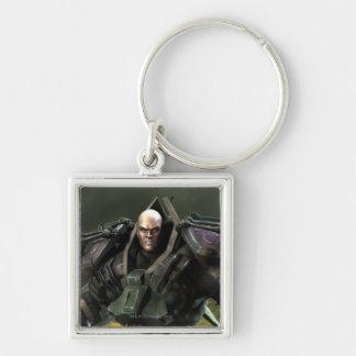 Lex Luthor Llavero Cuadrado Plateado