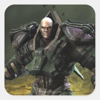 Lex Luthor Pegatina Cuadrada