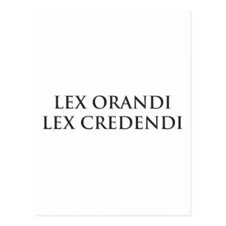 Lex Orandi Lex Credendi in black Postcard