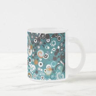 LEXA - ABSTRACT FROSTED GLASS COFFEE MUG