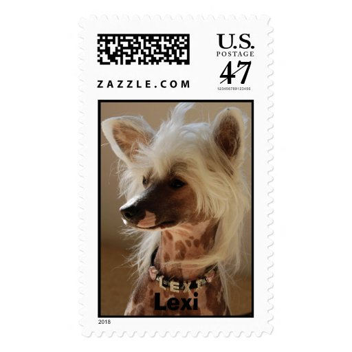 Lexi - Chinese Crested Postage Stamp