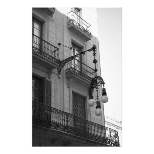 L'Exiample Balcony Photo Print (Barcelona, Spain)