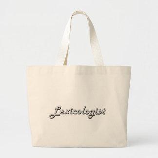 Lexicologist Classic Job Design Jumbo Tote Bag