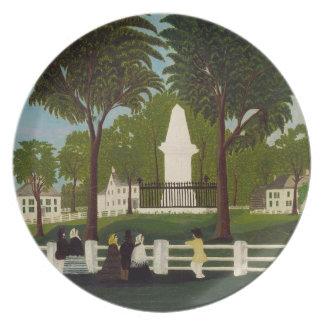 Lexington Battle Monument, c.1830 Dinner Plate
