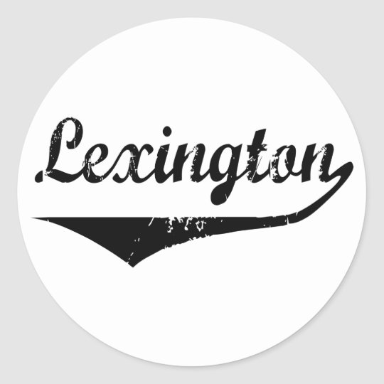 Lexington Classic Round Sticker