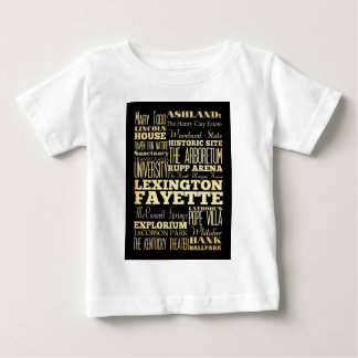 Lexington Fayette Kentucy City State Typography Baby T-Shirt