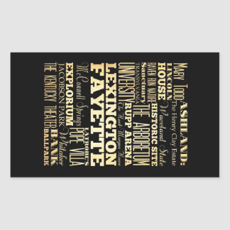 Lexington Fayette Kentucy City State Typography Rectangular Sticker