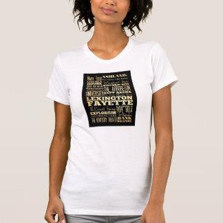 Lexington Fayette Kentucy City State Typography T-Shirt