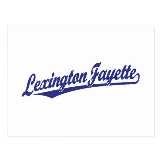 Lexington-Fayette script logo in blue Postcard