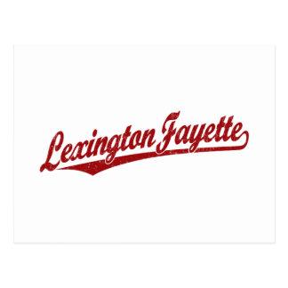 Lexington-Fayette script logo in red distressed Postcard