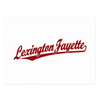 Lexington-Fayette script logo in red Postcard