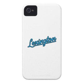 Lexington in cyan Case-Mate iPhone 4 case