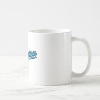 Lexington in cyan coffee mug