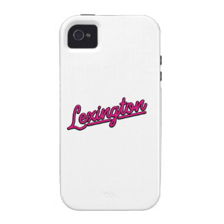 Lexington in magenta vibe iPhone 4 case