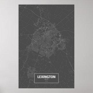 Lexington, Kentucky (blanco en negro) Póster