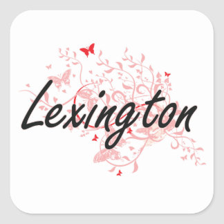 Lexington Kentucky City Artistic design with butte Square Sticker