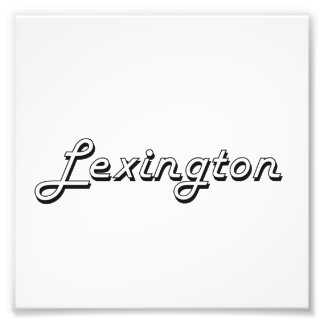 Lexington Kentucky Classic Retro Design Photo Print
