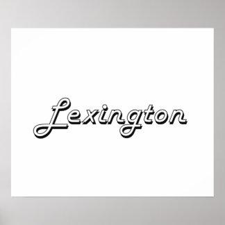 Lexington Kentucky Classic Retro Design Poster