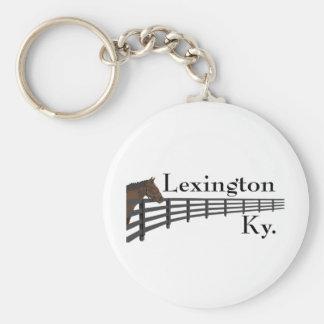 Lexington Kentucky Horse and Fence Basic Round Button Keychain