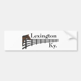Lexington Kentucky Horse and Fence Bumper Sticker