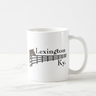 Lexington Kentucky Horse and Fence Coffee Mug