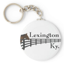 Lexington Kentucky Horse and Fence Keychain