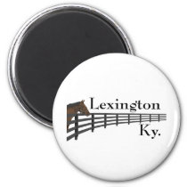 Lexington Kentucky Horse and Fence Magnet