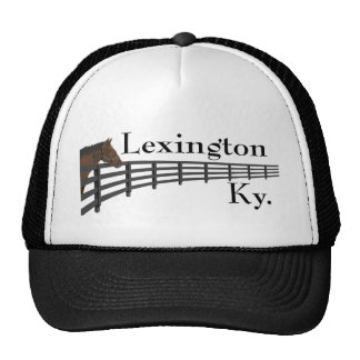 Lexington Kentucky Horse and Fence Mesh Hats