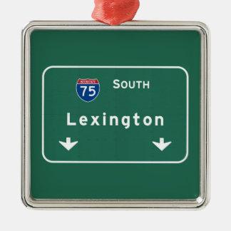 Lexington Kentucky ky Interstate Highway Freeway : Metal Ornament