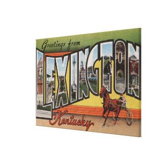Lexington, Kentucky - Large Letter Scenes Canvas Print
