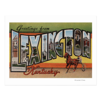 Lexington, Kentucky - Large Letter Scenes Postcard